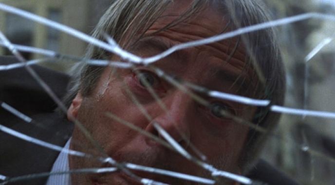 """Szenenfoto aus dem Film """"Die Körperfresser kommen"""" (Invasion of the Body Snatchers, USA 1978) von Philip Kaufman; Kevin McCarthy"""