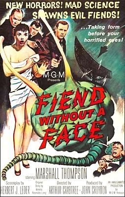 """Poster zu dem Film """"Ungeheuer ohne Gesicht"""" (Fiend Without a Face, GB 1958) von Arthur Crabtree"""