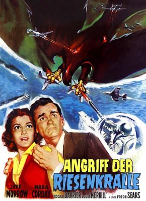 """Plakat zum Film """"Angriff der Riesenkralle"""" (The Giant Claw, USA 1957) von Fred F. Sears"""