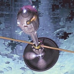 """Ausschnitt vom Buchcover des Romans """"Himmelsturz"""" (Pushing Ice, 2005) von Alastair Reynolds in der Ausgabe vom Heyne Verlag"""