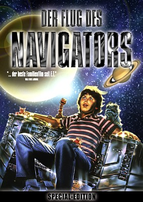 "DVD-Cover zum Film ""Der Flug des Navigators"" (Flight of the Navigator, USA 1986) von Randal Kleiser"
