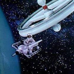 """Szenenfoto aus dem Film """"Die Eroberung des Weltraums"""" (Conquest of Space, USA 1955) von Byron Haskin und George Pal"""