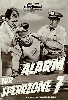 """Deutsches Presseheft zum Film """"The Monster that Challenged the World"""" (USA 1957), dt. Titel """"Alarm für Sperrzone 7"""""""