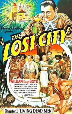 "Poster für das Kinoserial ""The Lost City"" (USA 1935) von Harry Revier"