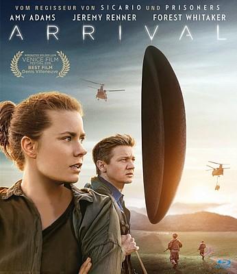 """Bluray-Cover zu dem Film """"Arrival"""" (USA 2016) von Denis Villeneuve"""