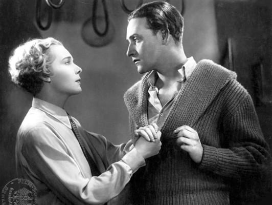 """Szenenfoto aus dem Film """"Frau im Mond"""" (Deutschland 1929) von Fritz Lang; Gerda Maurus und Willy Fritsch"""