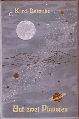 """Buchcover von Kurd Laßwitz, """"Auf zwei Planeten""""; Volksausgabe von 1913"""