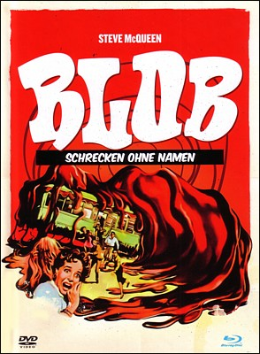 "Bluray-Cover für den Film ""Blob -- Schrecken ohne Namen"" (The Blob, USA 1958) von Irvin S. Yeaworth Jr."