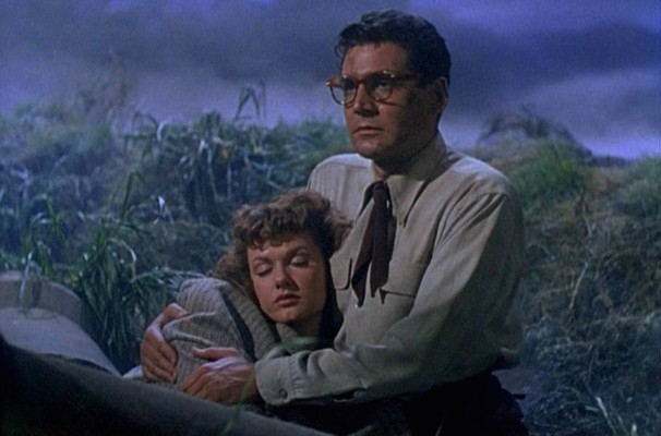 "Ann Robinson und Gene Barry in ""Kampf der Welten"" (The War of the Worlds, USA 1953)"