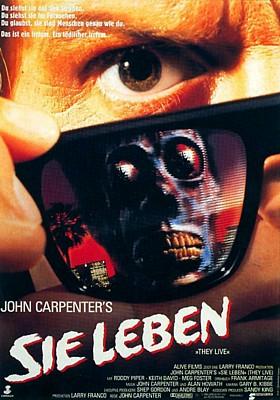 """Kinoplakat zu dem Film """"Sie leben"""" (They Live, USA 1988) von John Carpenter"""