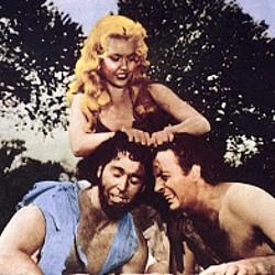 """Pressefoto aus dem Film """"Amazonen des Urwalds"""" (Prehistoric Women, USA 1950)"""