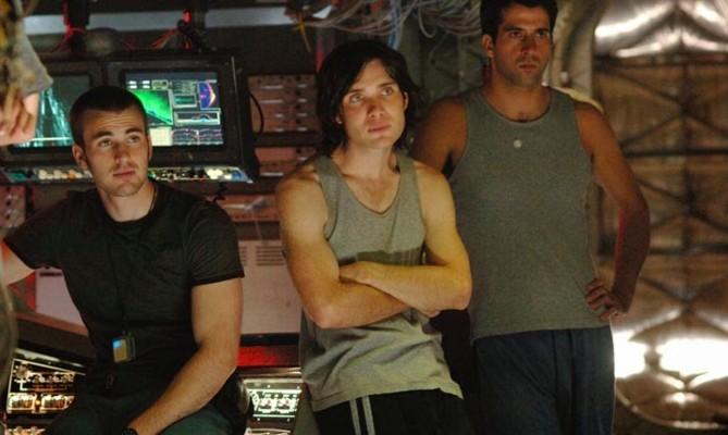 "Szenenfoto aus dem Film ""Sunshine"" (GB 2007) von Danny Boyle; Chris Evans, Cillian Murphy, Troy Garrity"