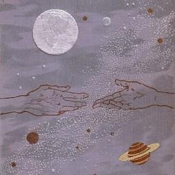 """Ausschnitt des Buchcovers """"Auf zwei Planeten"""" (1897) von Kurd Laßwitz, Volksausgabe von 1913"""