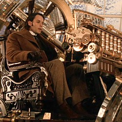 "Szenenfoto aus dem Film ""The TIme Machine"" (USA 2002) von Simon Wells; Guy Pearce in der Zeitmaschine"