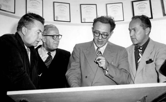 Byron Haskin, Chesley Bonestell, Willy Ley und George Pal