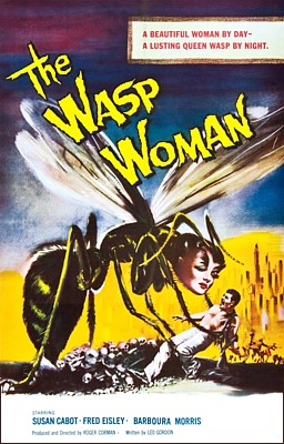 "Kinoplakat zum Film ""The Wasp Woman"" (USA 1959) von Roger Corman"