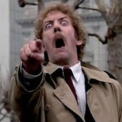 """Szenenfoto aus dem Film """"Die Körperfresser kommen"""" (Invasion of the Body Snatchers, USA 1978) von Philip Kaufman; Donald Sutherland"""