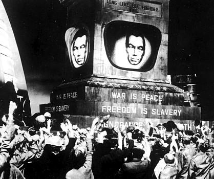 """Die Masse als dystopischer Horror – für F. R. Scheck nur Ausdruck kapitalistischer Reaktion (""""1984""""-Verfilmung von Michael Anderson)"""