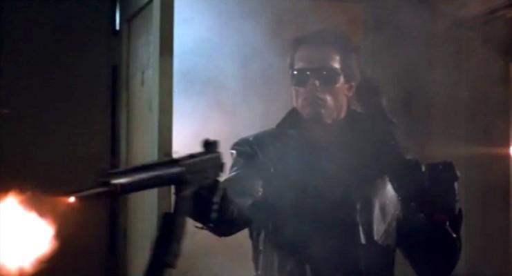 Arnold Schwarzenegger als unbesiegbare, gnadenlose Killer-Maschine in James Camerons The Terminator (USA 1984)