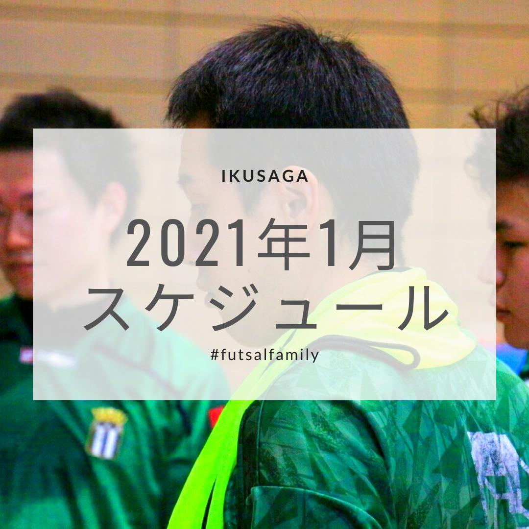 活動スケジュール(2021年1月)