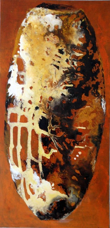 vase africain n. 2 - tech. mixte - 100x50