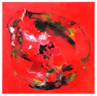 vase vitré rouge n. 1 - 70x70