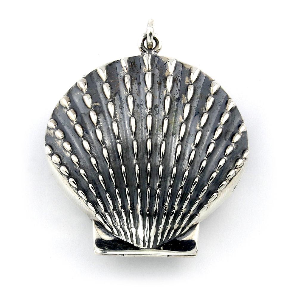 Jakobsmuschel Medaillon aus Sterlingsilber