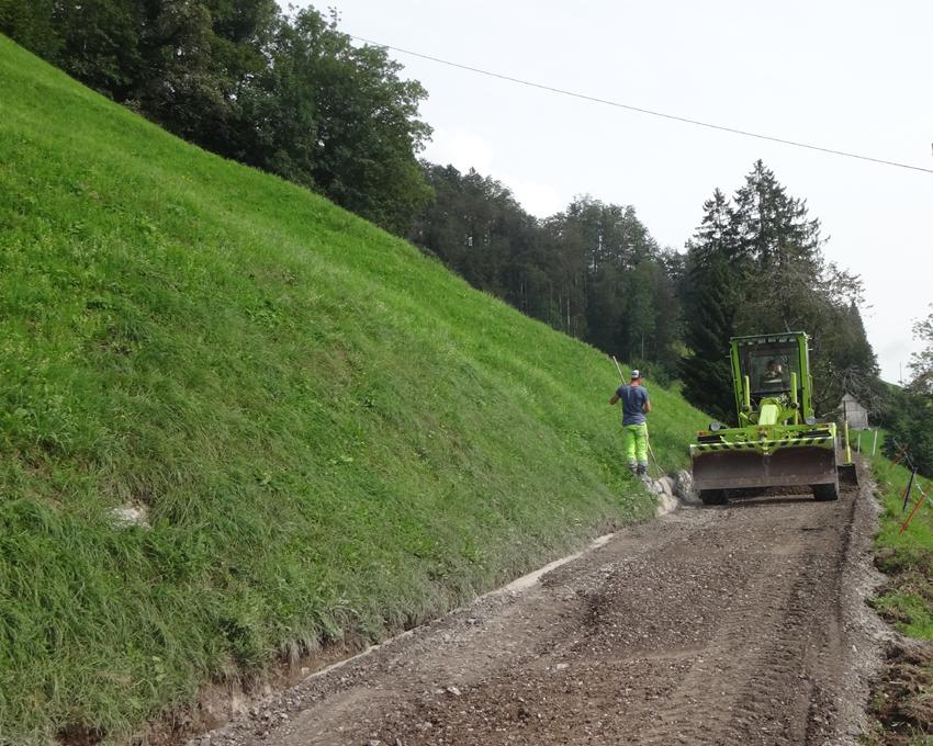 9. September: Beginn Oberbau, Stabilisierung