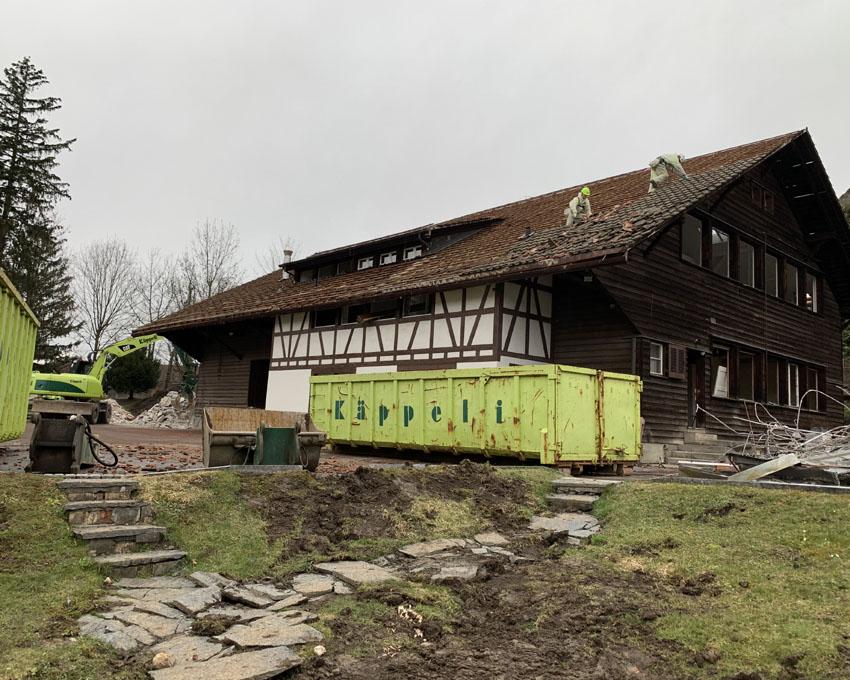 Dieser Bau diente an der Landesausstellung 1938 in Zürich als Ausstellungshalle