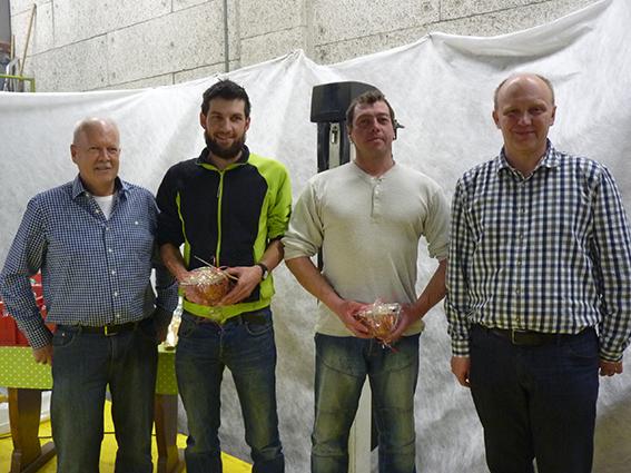 5 Jahre: Frank Flecks, Andreas Gamma (l.) und Sven Mannhart (r.). Nicht im Bild Stojan Dokic