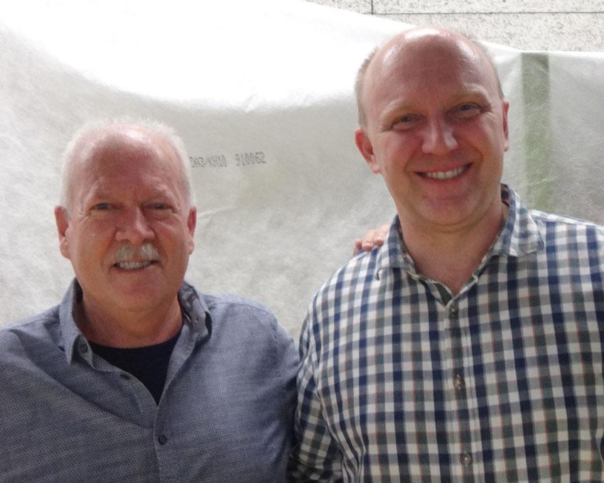 Die beiden Geschäftsführer: Edi Tonazzi (l.) bisher und Lukas Käppeli (r.) neu