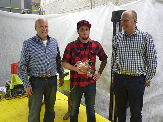 10 Jahre: Pascal Brechbühl (m.) zusammen mit Edi Tonazzi (l.) und Lukas Käppeli (r.) Nicht im Bild Jörg Gehmlich