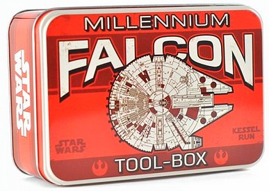 Star Wars Brotdose aus Metall mit Millenium Falcon