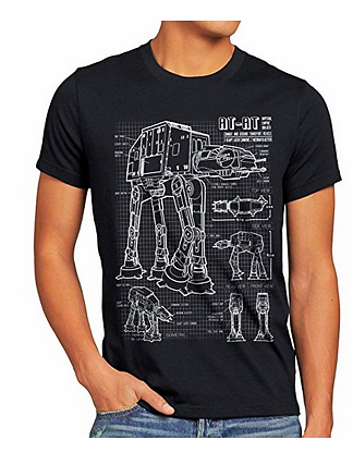 Star Wars T-Shirt AT-AT Blaupause