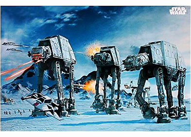 Star Wars Poster Kampfszene mit 3 AT-ATs