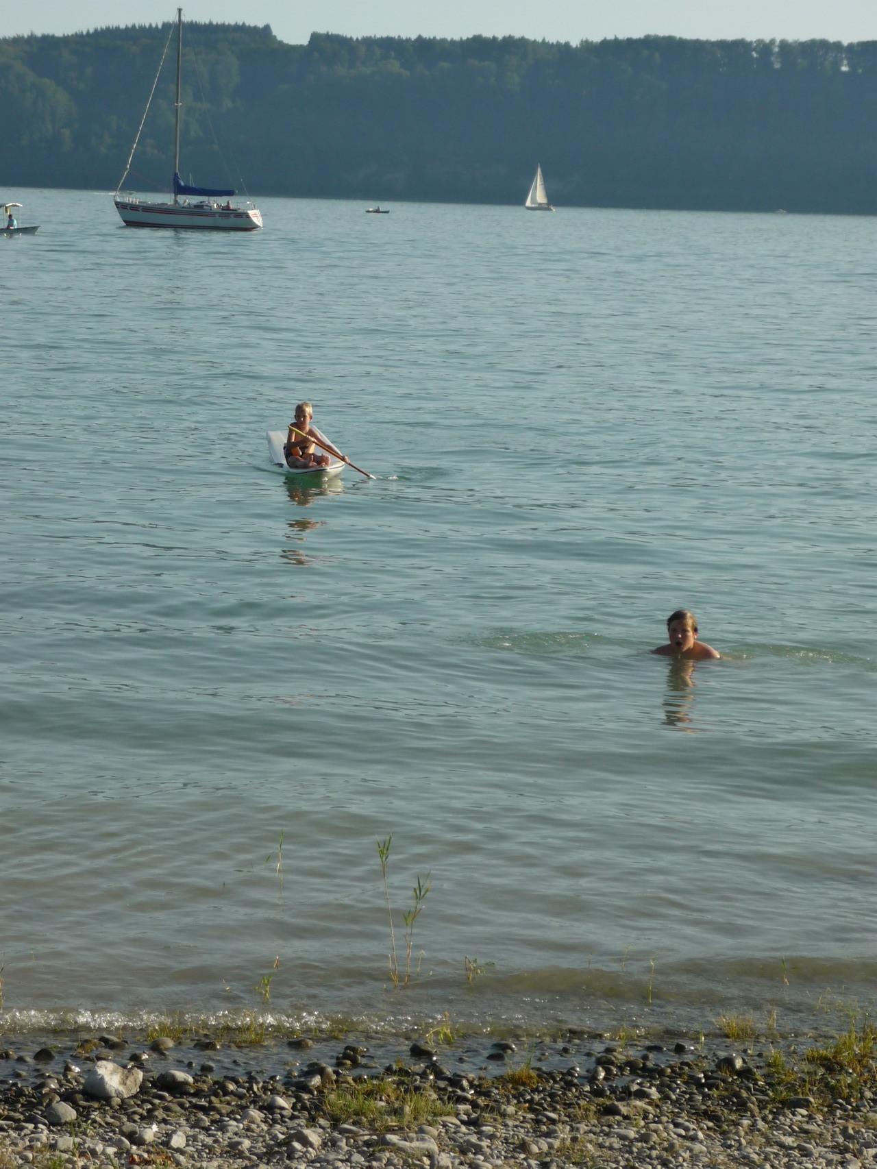 Wassersport am Badestrand