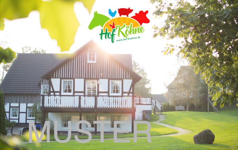Wertgutschein für den Hof Köhne im Sauerland