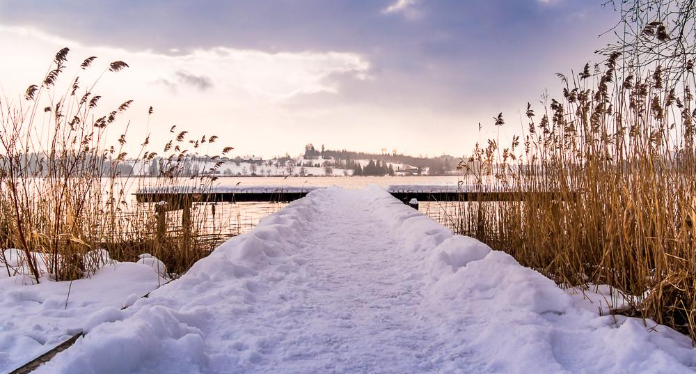 Winterlicher Nachmittagsspaziergang