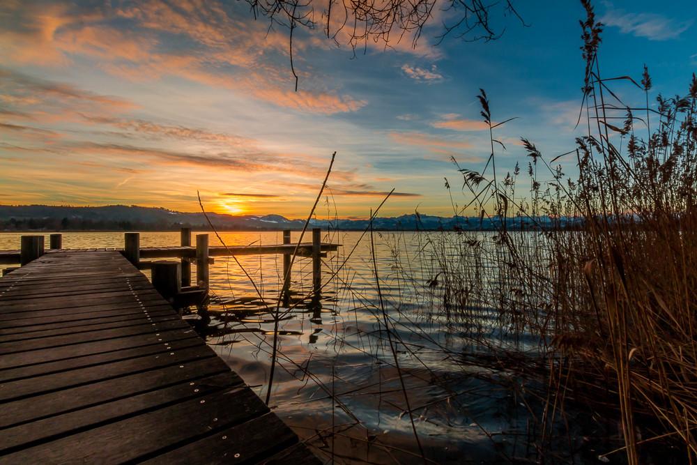 Sonnenaufgang westlich des Seequais
