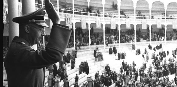 Heinrich Himmler en la Plaza de Toros de las Ventas en Madrid.