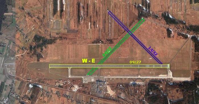 Los restos aún son visibles hoy en día desde el aire en la parte nordeste del aeropuerto debido a los diferentes colores de la vegetación. 2 Eskadry Lotnictwa Myśliwskiego
