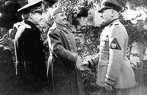 El 31 de marzo de 1939, España firmaba su anexión al Pacto Antikomintern en Burgos, dado que allí se encontraba el gobierno provisional del Frente Nacional y con Francisco Gómez-Jordana Sousa, el Conde Jordana, como Ministro de Asuntos Exteriores.