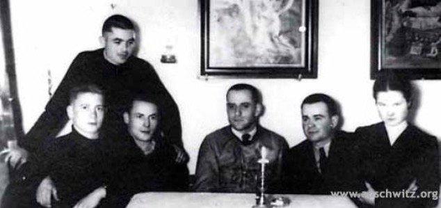 Los fugitivos en la casa de Andrzej Harat en Libiąż.