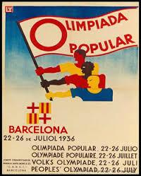 Cartel de la Olimpiada Popular del 22 al 26 de julio de 1936. Recuperando Memoria