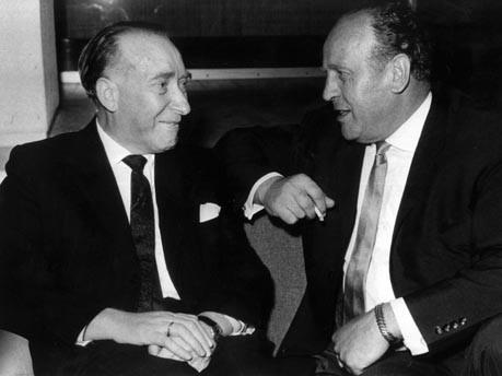Itzhak Stern con Oskar Schindler.