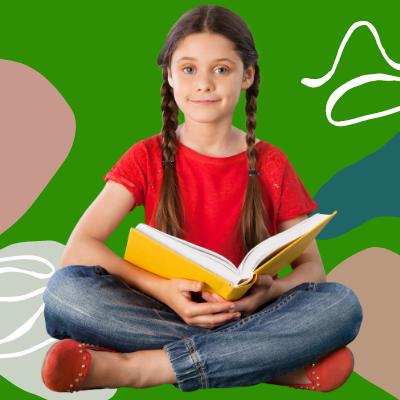 Mädchen liest Buch Leseverständnis