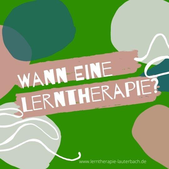Wann braucht dein Kind eine Lerntherapie - und wann nicht?