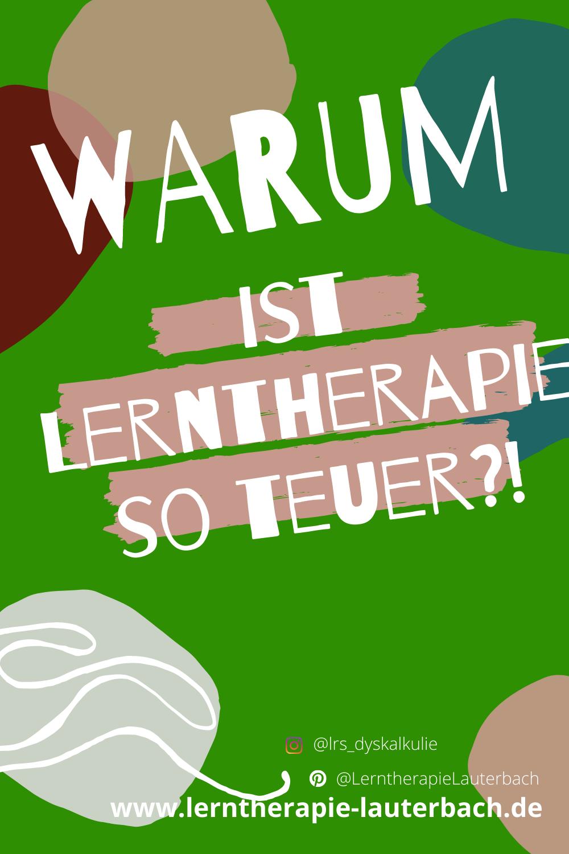 Warum ist Lerntherapie eigentlich so teuer?!
