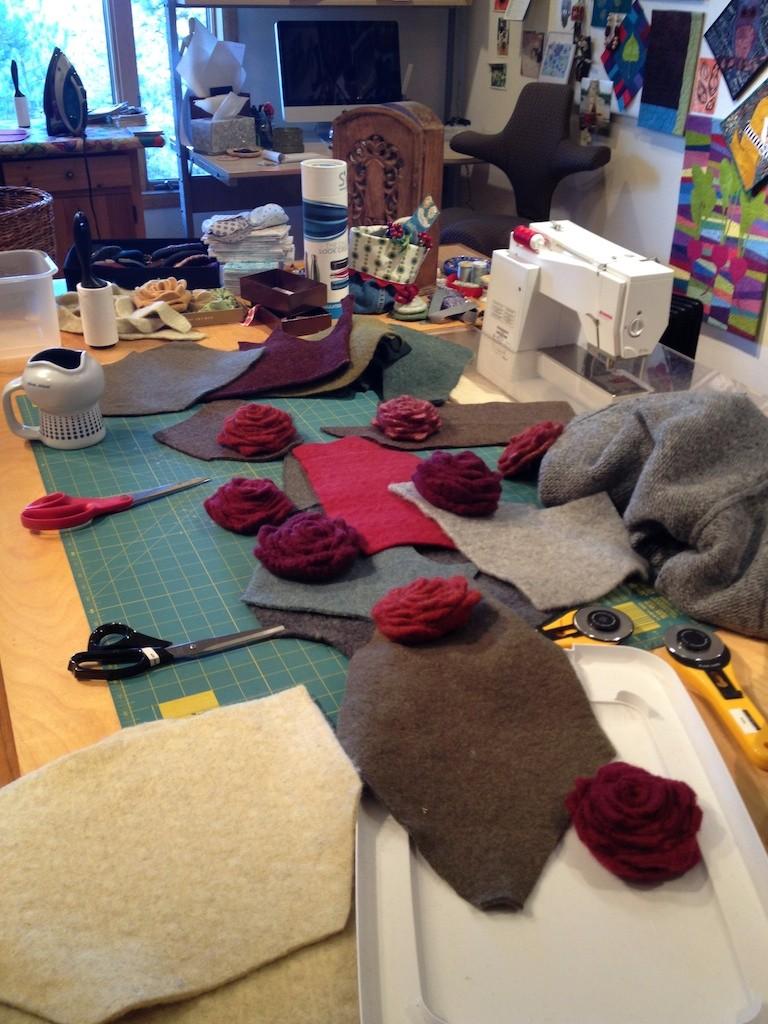 Work table at Pine Tree Studio Photo credit: Amy Mundinger