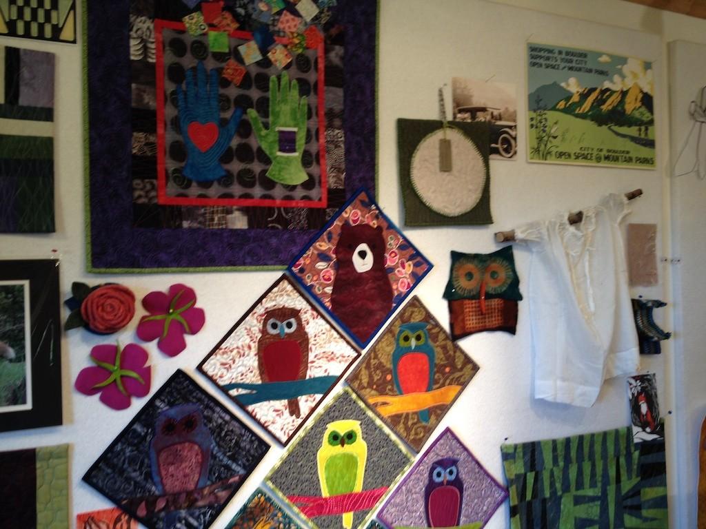 Design wall at Pine Tree Studio Photo credit: Amy Mundinger